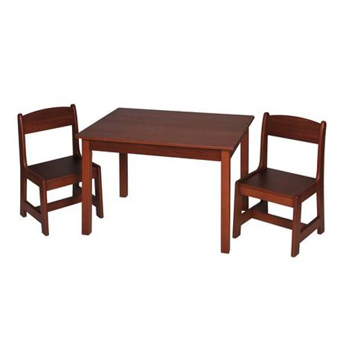 Giftmark Children's Rectangle Table w 2 Chair Set Cherry Kids (Cherry Game Chair)