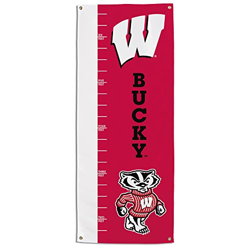 (NCAA Wisconsin Badgers Growth Chart Banner, Red)