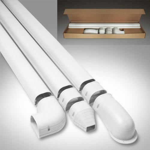 PVC Line Set Cover Kit for Mini Split Air Conditioners and H