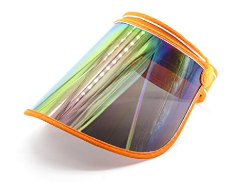 Plastic Visor (Oidon Plastic Sun Visor UV Protection Hat Cap (Orange))