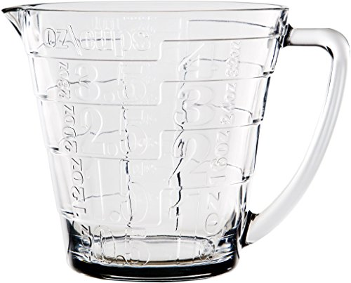 Palais Glassware Glass Liquid Measuring Cup - Up to 4 Cups (Clear) ()