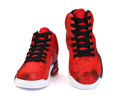 Town Air Shock Shoes Running Tennis 66 Absorption Men's No Shoes Sneaker Red Basketball gHw65qn