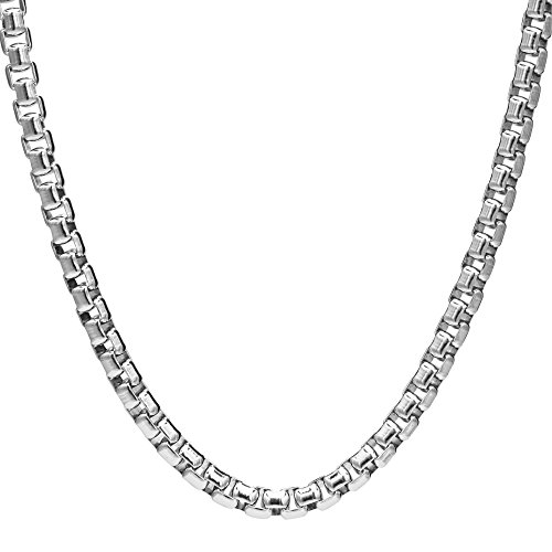 (NYC Sterling Unisex Solid Italian 2.5mm Round Box Chain in Sterling Silver (24