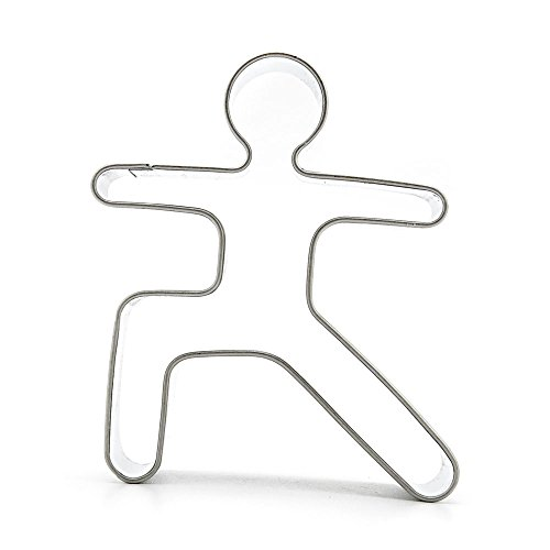 Metal Biscuit Pastry Cookie Cutter Jelly Craft Fondant DIY Kitchen Baking Tool Sandwiches A292 Tai Chi Motion Taiji Athlete Kung fu Sports by ebemallmall Cookie Cutters