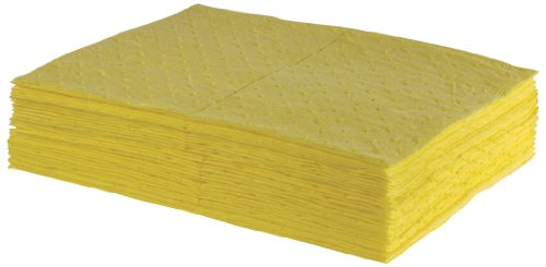 ESP 2MBYPB Polypropylene Medium Weight Meltblown Absorbent Sonic Bonded HazMat Pad, 20 Gallons Oil and 13 Gallons Water Absorbency, 18'' Length X 15'' Width, Yellow (100 per Bale) by ESP (Image #1)'
