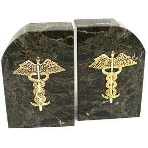 Medical Bookends (Verdigris Marble Medical Bookends)