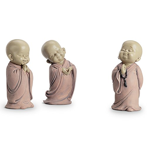 Standing Buddhist Monks Set of 3