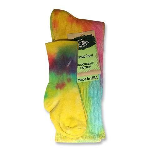(MAGGIES Cotton Crew Socks - Tie Dye Lite - Size 9-11, Mom & Baby Tie Dye Set (1 Pair 9-11 & Infant))