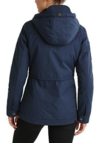 Navy Abrigo Colette Mujer Entretiempo Con Capucha De Para Chaqueta Blendshe 70230 Parka 6pHqUnw6v