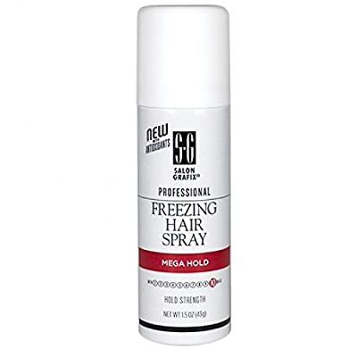 Salon Grafix Freezing Hair Spray Aerosol Mega Hold 1.50 oz
