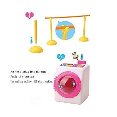 Novobey Washing Machine Toy, Simulation Housekeeping Miniature Washing Machine Playset Toys Set for Kids: Toys & Games
