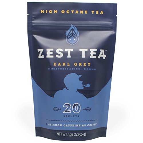 Earl Grey Black Energy Tea - Natural and Healthy Coffee Substitute - 150 mg caffeine per cup (20 Bags) (50 g)