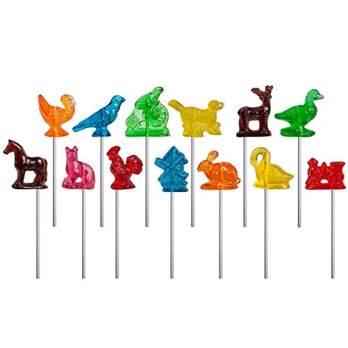 Melville Candy Lollipops, Old Tyme Assorted, Lollipops (Pack of 24)