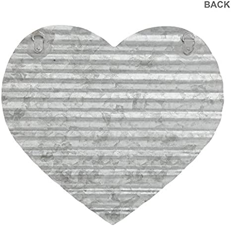 Everydecor Corrugated Galvanized Metal Heart Wall Decor Home Kitchen Amazon Com