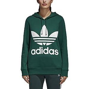 adidas Women's Trefoil Hoodie, Collegiate Green, XL