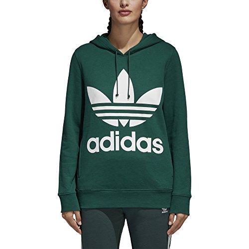 adidas Originals Women's Trefoil Hoodie, Collegiate Green, S (Adidas Womens Green)