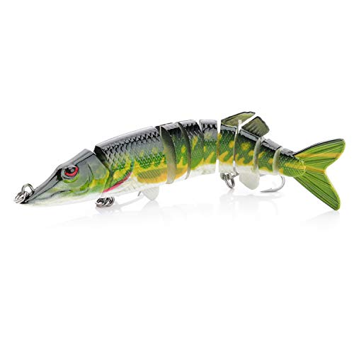 Hifish Big Swimbaits Pike Muskie Fishing Lures Multi Jointed Fishing Fishing Baits for Bass Trout Freshwater Saltwater ()