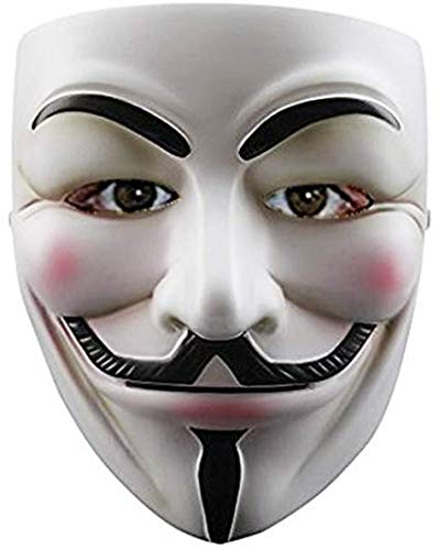 Amazon price history for Balloonistics Guy Fawkes Halloween Costume V for Vendetta Mask Anonymous Fancy Cosplay (White)