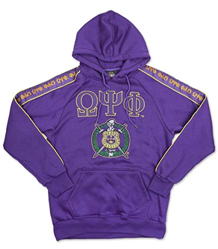 (Omega Psi Phi Fraternity Men's Pullover Hoodie Extra Large)