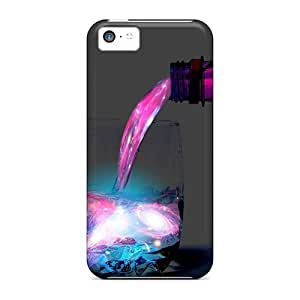 Durable Case For The Iphone 5c- Eco-friendly Retail Packaging(liquid Space Drink)