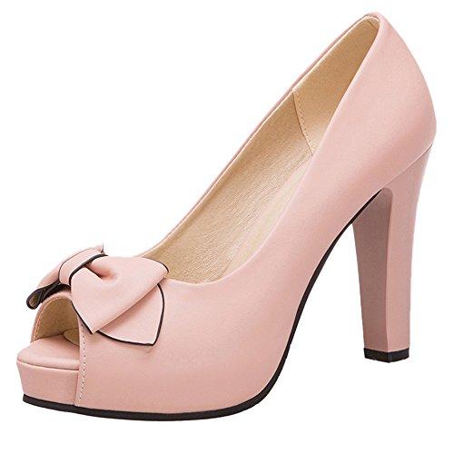 Tacon 64 RAZAMAZA Para Pink Mujer de Alto Zapatos AWqEgwa