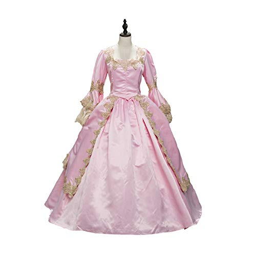 CountryWomen Pink Marie Antoinette Renaissance Brocade Dress Ball