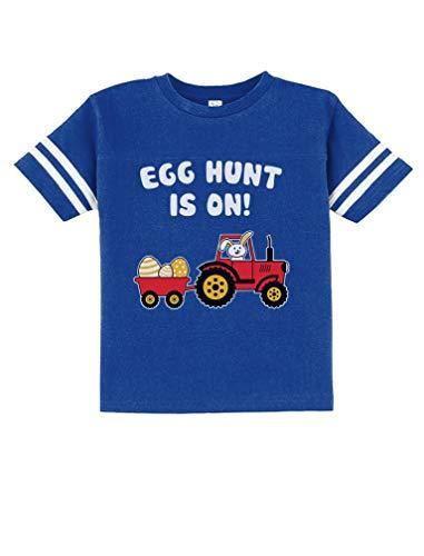 Easter Egg Hunt Gift for Tractor Loving Boys Kids Toddler Jersey T-Shirt 2T - Egg Tractor