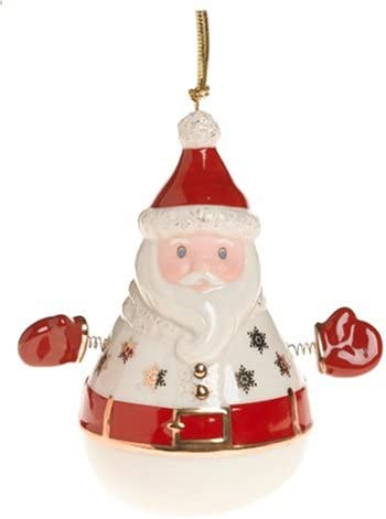 Amazon Com Lenox Roly Poly Santa Porcelain Ornament Kitchen Dining