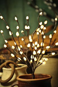 Pussy Willow Lighted Accent Branch