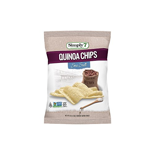 Simply7 Gluten Free Quinoa Chips, Sea Salt, 0.8 Ounce, (Pack of 24)