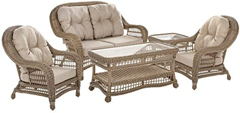 WUnlimited 5-Piece Wicker Outdoor Patio Furniture Set