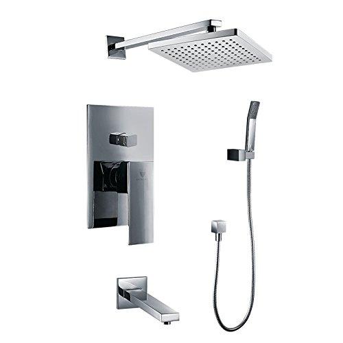 - Palermo Wall Mount Bathroom Rain Shower Set