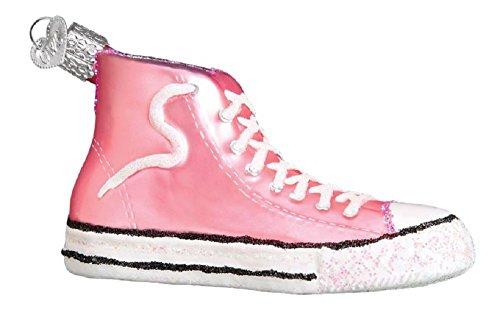 Old World Christmas 32315 Ornament, Pink High-Top Sneaker - Glass Basketball Christmas Ornaments