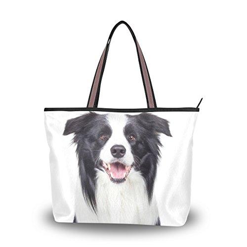 ALAZA Australian Shepherd Dog Large Tote Top Handle Shoulder Bags Handbags for Women - Sunglass Designer Australian