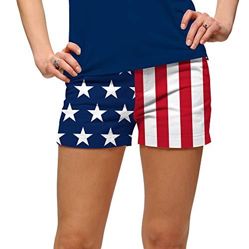 Loudmouth Golf Stars & Stripes StretchTech Women's Mini Short ()