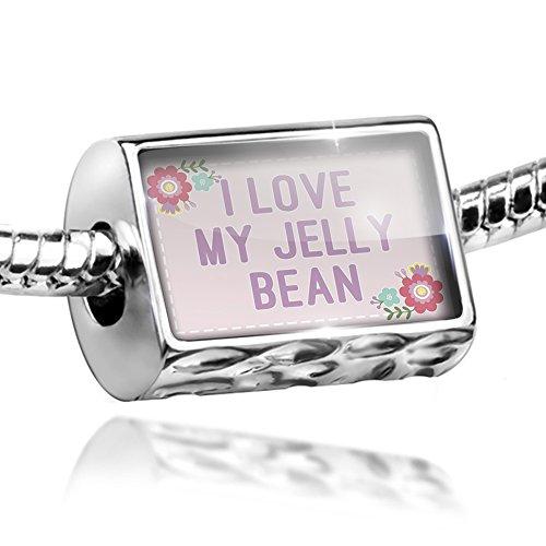 NEONBLOND Bead I Love My Jelly Bean Easter Scrapbook Flowers Charm Fits All European Bracelets