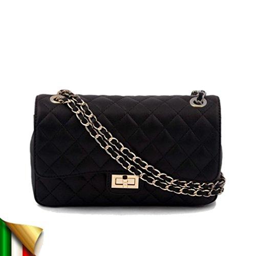 Hand-bag, Ingrid Schwarz, leder, made in Italy