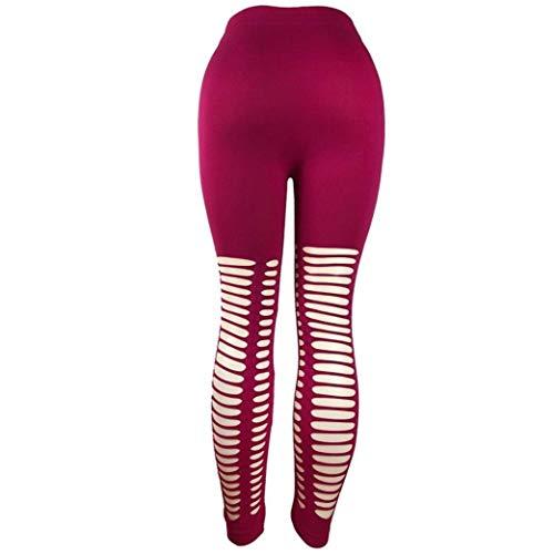 yoga leggings petite trou femmes taille coupe sexy pantalons creux rose chaud couleur orange sexe de Zhrui FTwIqF