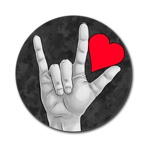 I Love You Sign Language Mouse Pad