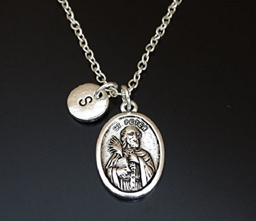 Amazon saint peter necklace saint peter charm saint peter saint peter necklace saint peter charm saint peter pendant saint peter jewelry aloadofball Images