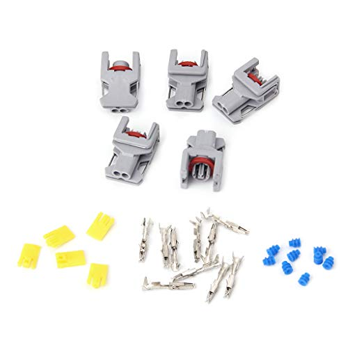 PoityA 5 Sets 2 Pin Waterproof Connector for Delphi 10811963 Fuel Diesel Injector Fuel Rail - Injector Fuel Specifications