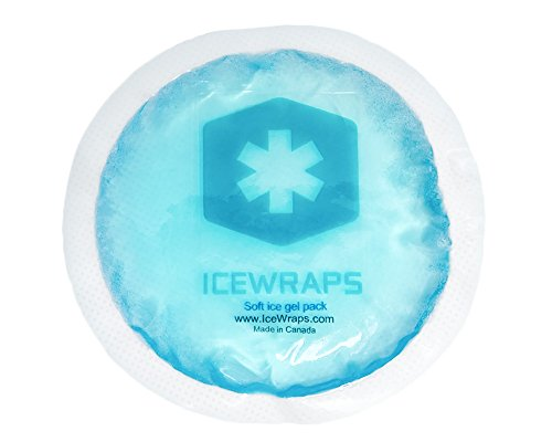 Round-Reusable-Gel-Ice-Packs-With-Cloth-Backing--Great-For-Wisdom-Teeth-Breastfeeding-Tired-Eyes-Kids-Injuries-Headaches-Sinus-Relief-And-More-Use-As-Hot-Or-Cold-Packs-Blue--5-Pack