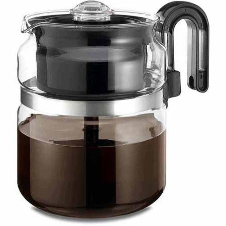 One All 8-Cup Stovetop Glass Percolator by BLOSSOMZ
