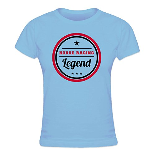 (Shirtcity Horse Racing Legend Women's T-shirt M Blue)