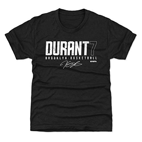 Kevin Durant T-shirt - 500 LEVEL Kevin Durant Brooklyn Basketball Youth Shirt (Kids Large (10-12Y), Tri Black) - Kevin Durant Elite W WHT