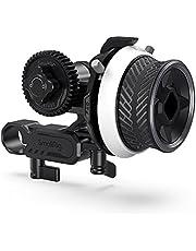 SMALLRIG Mini Follow Focus with 15 mm Rod & Rod Clamp & NATO Rail & Gear Ring Belt and M0.8-43T Gear - 3010
