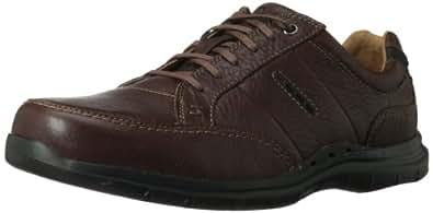 Clarks Men's UN Preston Lace-Up Oxford,Brown Leather,8 M US