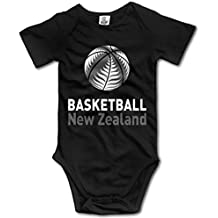 fan products of Unisex Baby's Climbing Clothes Set Basketball New Zealand Bodysuits Romper Short Sleeved Light Onesies for 0-24 Months
