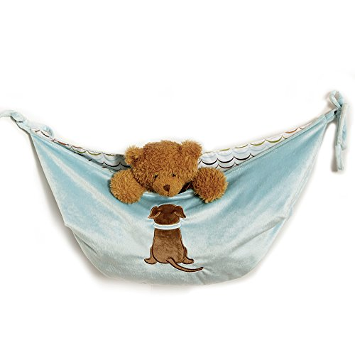 One Grace Place Puppy Pal Boy Toy Bag, Powder Blue, Sage Green, Chocolate Brown, Orange, White