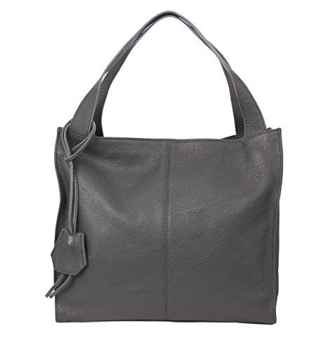 Slingbag Düsseldorf - Bolso de tela para mujer gris gris large, gris (gris) - 4251042514598 Gris